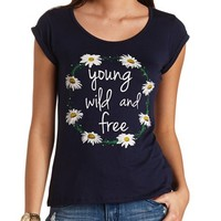 Young, Wild & Free Daisy Graphic Tee