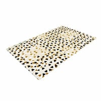 "Pom Graphic Design ""Diamond Sky"" Beige Black Woven Area Rug"