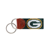 Green Bay Packers Needlepoint Key Fob by Smathers & Branson