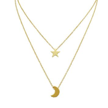 Network Celebrity Accessories Boho Jewelry Sets Woman Stars Moon Drop Necklace Jewelry Charm Clavicle Chain Birthday Party Gift