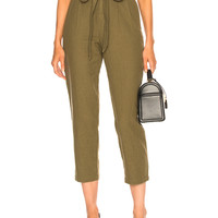 AG Adriano Goldschmied Darena Pant in Olive Grove   FWRD