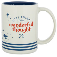 Disney Parks Peter Pan Neverland Just Think of a Wonderful Though Coffee Mug New