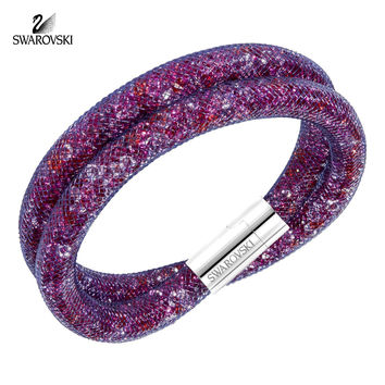 Swarovski Multi Color Crystals Double Bracelet STARDUST #5189760 Medium