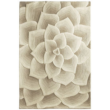 Rose Tufted Ivory Rug