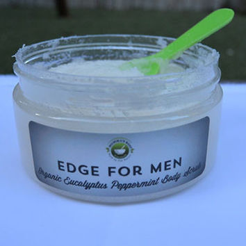 Men's Organic Eucalyptus Peppermint Sugar Body Scrub