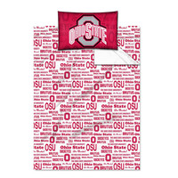 Ohio State Buckeyes NCAA Twin Sheet Set (Anthem Series)