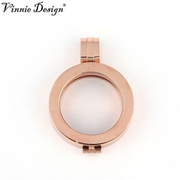 Vinnie Design Jewelry 25mm Stainless Steel Frame Pendant for My Coin Discs DIY Fashion Jewelry