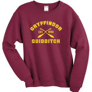 Gryffindor Quidditch Harry Potter Shirt Sweatshirt Sweater Shirt – Size S M L XL