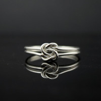 Heart ring. Double infinity ring. Sterling Silver Double knot ring. Infinity knot ring, Celtic Knot ring, sister jewelry, promise ring.