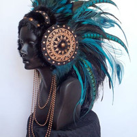 MADE TO ORDER Large  Warrior Priestess Headdress