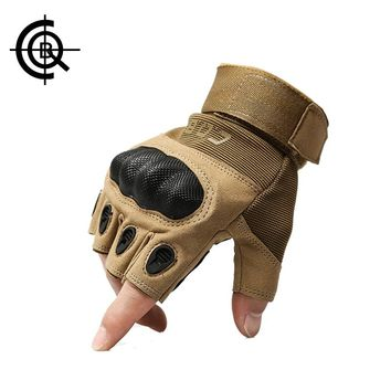 CQB Outdoor Tactical Gloves Full Finger Sports Hiking Riding Cycling Military Men's Gloves Protection Shell Gloves  New