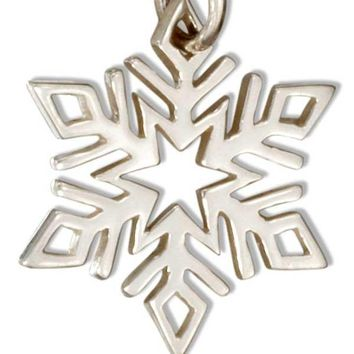 Sterling Silver Small Snowflake Charm