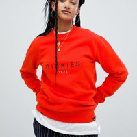 Dickies relaxed sweatshirt with large front logo at asos.com
