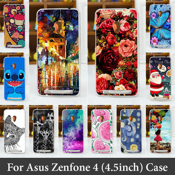 For Asus Zenfone 4 4.5 inch A450CG A450 Cases Hard Plastic Cellphone Mask Case Protective Cover Housing Skin Mask