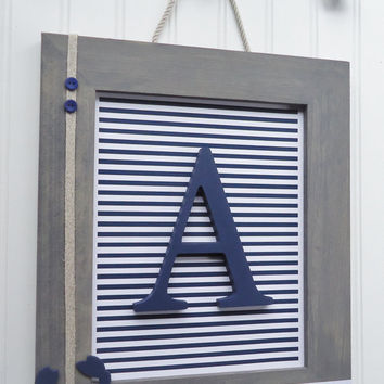 Framed Nursery Letters Frames Nautical Wall Le