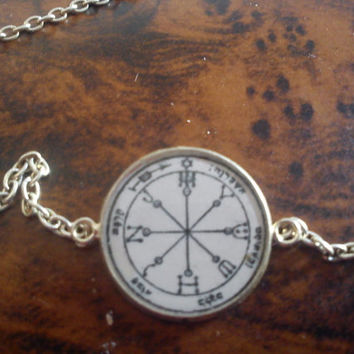 Powerful Sixth Pentacle of Mars Bracelet. To be used for all-encompassing protection. Enemies weapons shall turn against him
