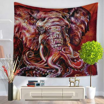 Indian Elephant Tapestry 3D Colored Printed Wall Hanging Rectangle Decorative Blanket Mandala Tapestry arazzo da parete 150x130