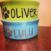 Personalized Dog Bowl Decal // Personalized Cat Bowl Decal // Dog Name Decal // Cat Name Decal // Dog Bowl Decal // Cat Bowl Decal