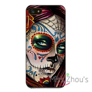 Samsung Galaxy mobile cellphone cases cover Mexican Skull Girl Art Painted