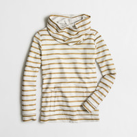 Factory striped funnelneck sweatshirt with pockets