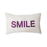 Smile Glitter Words Pillow