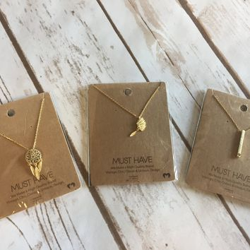 Must Have Brass Pendant Necklace