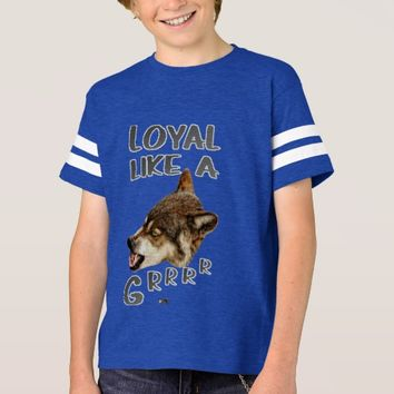 Loyal Wolf Quote Design by Kat Worth T-Shirt
