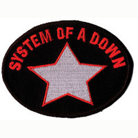 System Of A Down Men's Embroidered Patch Black