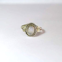 moon stone ring, moonstone ring, silver ring,  silver rainbow ring, stone ring, 92.5 sterling silver, moonstone ring,  Silver Ring, RNSL17