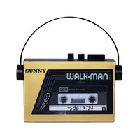 Sarah's Bag | Gold Walkman clutch | Valery Demure