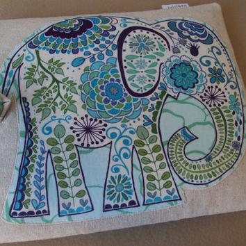 iPad Case / iPad Sleeve / iPad Cover / Galaxy Tablet  / Elephant / Unbleached cotton  / Designer Silk Lining  / READY TO SHIP