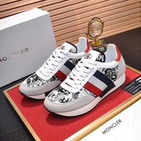Moncler Men Fashion Boots  fashionable casual leather  Breathable Sneakers Running Shoes Sneakers