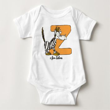 Z for Zebra Baby Bodysuit