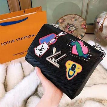 LV High Quality Newest Fashionable Women Shopping Bag Leather Cute Shoulder Bag Handbag Crossbody Satchel Black
