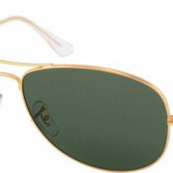 Cheap Authentic Ray Ban RB 3362 Cockpit 001 Arista Gold Sunglasses Green G15 59mm Lens outlet