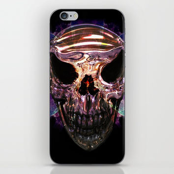 Pirate skull iPhone Skin by Knm Designs