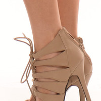 Sophee - Taupe Strappy Heels