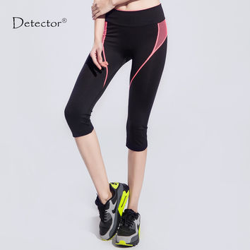 Women Yoga / Exercise Tights with side stripes. Great for other Sports, Fitness or Running Leggings with Elastic Waist
