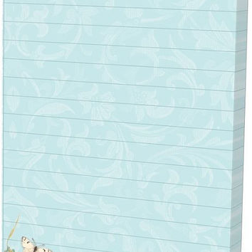 Embellished Magnetic List Pad - Butterfly Blossom