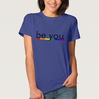 Gay Pride Rainbow Flag be you Tshirts