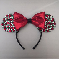 Holiday Themed Mickey Mouse Ears Headband