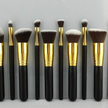 10 Pcs Makeup Brushes Professional Cosmetic Eye Tool