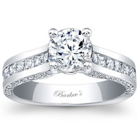 Barkev's Channel Set Princess Cut Diamond Engagement Ring