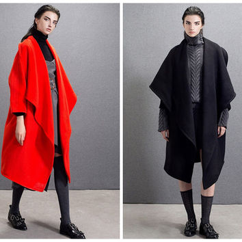 wool coat women,wool coat,wool jacket women,black coat,red coat,womens coats,oversized coat,oversized jacket,winter coat women.--E0670
