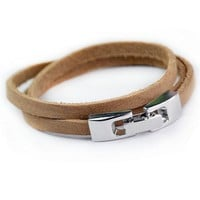New Arrival Gift Stylish Great Deal Shiny Hot Sale Awesome Men Leather Accessory Ring Cool Bracelet [6526749635]