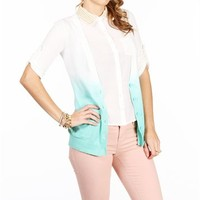 Ivory/Mint Ombre Cardigan