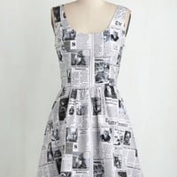 Quirky Mid-length Sleeveless A-line Start Spreading the Mews Dress by ModCloth