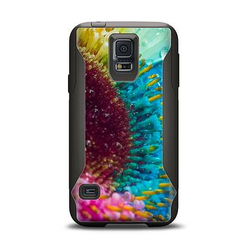 The Vibrant Colored Wet Flower Samsung Galaxy S5 Otterbox Commuter Case Skin Set