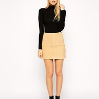 ASOS | ASOS Mini Skirt in Suede at ASOS