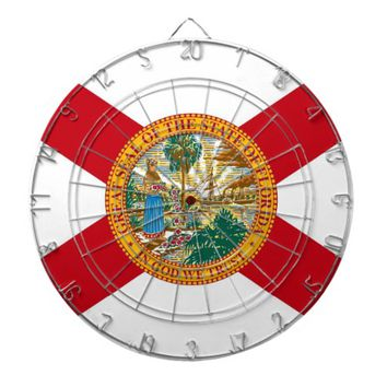Dartboard with Flag of Florida, USA